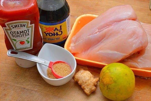 Ингредиенты для шашлыка из курицы с ананасом