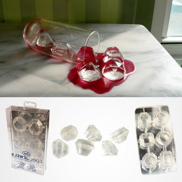 Формочки для льда в виде бриллиантов