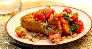 Жареный тунец с салатом 3