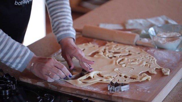 Детское творожное печенье - тесто